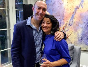 Soula Mantalvanos with pain scientist Lorimer Moseley