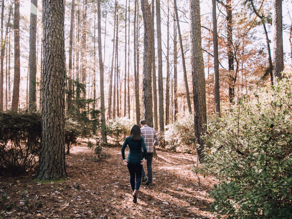 Walking in nature, or with a friend, is a way to get your mind working differently.